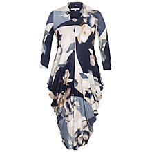 Buy Chesca Orchid Print Jersey Dress, Blue Online at johnlewis.com