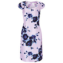 Buy Jacques Vert Watercolour Peony Print Dress, Purple/Multi Online at johnlewis.com