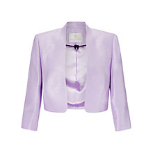Buy Jacques Vert Stand Collar Bolero, Lilac Online at johnlewis.com