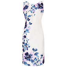 Buy Jacques Vert Peony Placement Print Dress, Cream/Multi Online at johnlewis.com