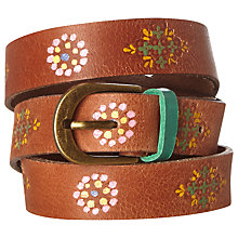 Buy White Stuff Longboat Belt, Tan/Multi Online at johnlewis.com