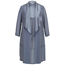 Buy Chesca Satin Back Crepe Trim Coat, Steel Online at johnlewis.com