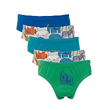 Buy John Lewis Boys' Zoo Animal Briefs, Pack of 5, Multi Online at johnlewis.com