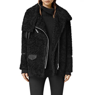 AllSaints Adlee Biker Jacket, Black
