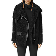 Buy AllSaints Adlee Biker Jacket, Black Online at johnlewis.com