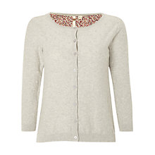 Buy White Stuff Writing Cardigan, Grey Online at johnlewis.com