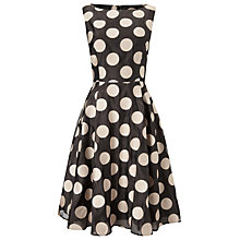 Buy Phase Eight Hayley Spot Dress, Graphite/Cameo Online at johnlewis.com