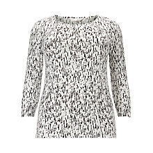 Buy Windsmoor Bark Print Top, Ivory/Black Online at johnlewis.com