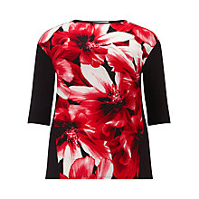 Buy Windsmoor Floral Print Top, Red/Black Online at johnlewis.com