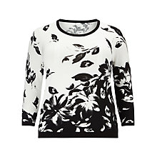 Buy Windsmoor Floral Jumper, White/Black Online at johnlewis.com