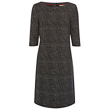 Buy White Stuff Textured Jersey T-Shirt Dress, Dark Stone Grey Online at johnlewis.com