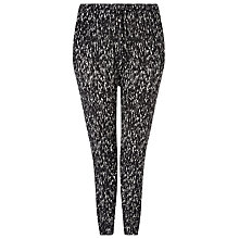 Buy Windsmoor Print Jersey Trousers, Black Online at johnlewis.com