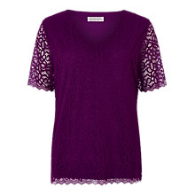 Buy Windsmoor Lace Top, Fuchsia Online at johnlewis.com