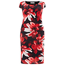 Buy Windsmoor Floral Print Dress, Red/Black Online at johnlewis.com