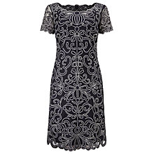 Buy Phase Eight Embroidered Taya Dress, Navy Online at johnlewis.com