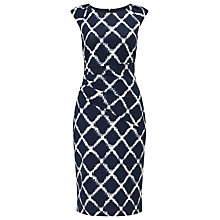 Buy Phase Eight Diamond Print Dress, Navy/White Online at johnlewis.com