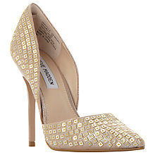 Buy Steve Madden Varcityy Cut Out Upper Court Shoes, Gold Online at johnlewis.com