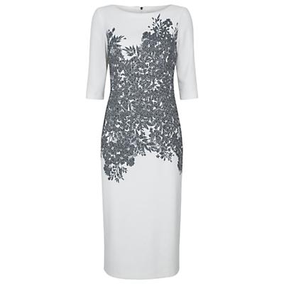 Damsel in a dress Floral Corset Dress, Ivory/Black