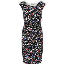 Buy Precis Petite Leaf Print Dress, Black/Multi Online at johnlewis.com