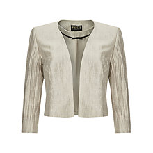Buy Precis Petite Crinkle Linen Blend Jacket, Oyster Online at johnlewis.com
