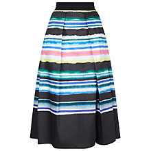 Buy Damsel in a dress Watercolour Stripe Skirt, Black/Multi Online at johnlewis.com