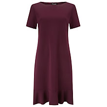Buy Phase Eight Alina Frill Hem Dress, Wine Online at johnlewis.com