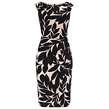 Buy Phase Eight Nima Print Dress, Black/Pink Online at johnlewis.com