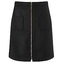 Buy Phase Eight Drue Wool Skirt, Black Online at johnlewis.com