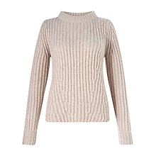 Buy Jigsaw Metallic Ribbed Jumper, Soft Pink Online at johnlewis.com