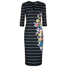 Buy Damsel in a dress Floral Stripe Dress, Black/Multi Online at johnlewis.com