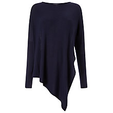 Buy Phase Eight Reine Asymmetric Knit Top, Navy Online at johnlewis.com
