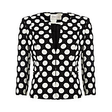 Buy Precis Petite Polka Dot Jacket, Black/White Online at johnlewis.com