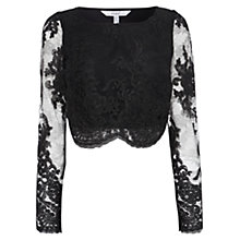 Buy Coast Dominica Lace Top, Black Online at johnlewis.com