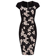 Buy Phase Eight Althea Textured Dress, Black/Multi Online at johnlewis.com