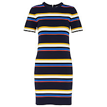 Buy Whistles Stripe T-Shirt Dress, Navy/Multi Online at johnlewis.com