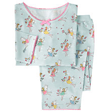 Buy Cath Kidston Children's Garden Fairies Jersey Pyjamas, Pale Blue Online at johnlewis.com