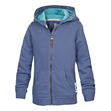 Buy Fat Face Girls' Embroidered Zip Through Hoodie, Blue Online at johnlewis.com
