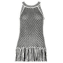 Buy Whistles Manderley Crochet Vest, Black/White Online at johnlewis.com