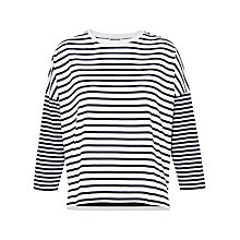 Buy Whistles Multi Stripe Jersey Top, Blue/White Online at johnlewis.com