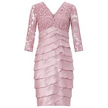 Buy Adrianna Papell Shimmer Tuck Lace Sheath Dress, Ash Rose Online at johnlewis.com