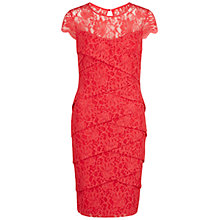Buy Gina Bacconi Antique Lace Layered Dress, Coral Online at johnlewis.com