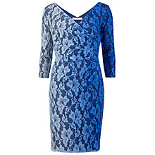 Buy Gina Bacconi Ombre Wrap Lace Dress, Blue Online at johnlewis.com