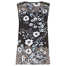 Buy Warehouse Floral Placement Shell Top, Black/Multi Online at johnlewis.com