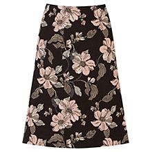 Buy Warehouse Floral Jacquard Skirt, Black/Multi Online at johnlewis.com