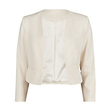 Buy Gina Bacconi Moss Crepe Jacket, Chalk Online at johnlewis.com