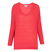 Buy Whistles V-Neck Marl Knit, Pink Online at johnlewis.com