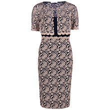 Buy Gina Bacconi Scallop Lace Dress and Jacket, Pink/Navy Online at johnlewis.com