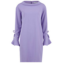 Buy Gina Bacconi Moss Crepe Ruffle Sleeve Dress, Spring Lavendar Online at johnlewis.com