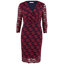 Buy Gina Bacconi Lace Dress, Navy/Coral Online at johnlewis.com