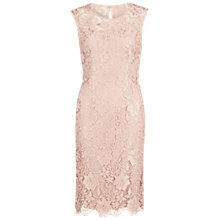 Buy Gina Bacconi Bouquet Guipure Lace Shift Dress, Apricot Crush Online at johnlewis.com